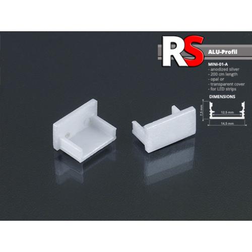 RS - MINI-01-A Alumínium U profilhoz végzáró elem, műanyag, szürke (13720)