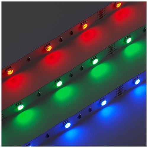 LED szalag beltéri 5050-30 (12 Volt), RGB, nagy fényerejű típus (3369)