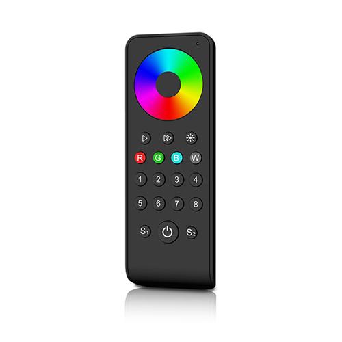 LED SD RS-8 Touch RGB+W távirányító, érintős, fekete, 8 zónás (23110)