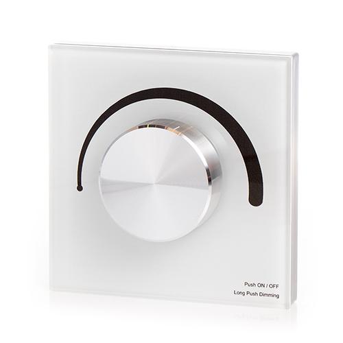 LED SD S1-KW Fali fényerő szabályzó (Triac 230V) forgatógombos, fehér (22587)