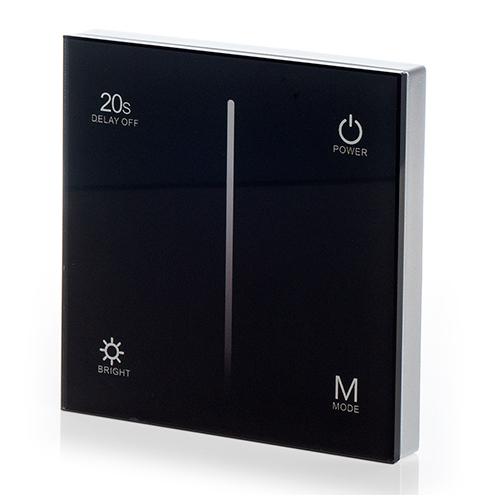 LED SD T1-1B Fali LED fényerőszabályzó, érintésérzékeny, fekete (22592)