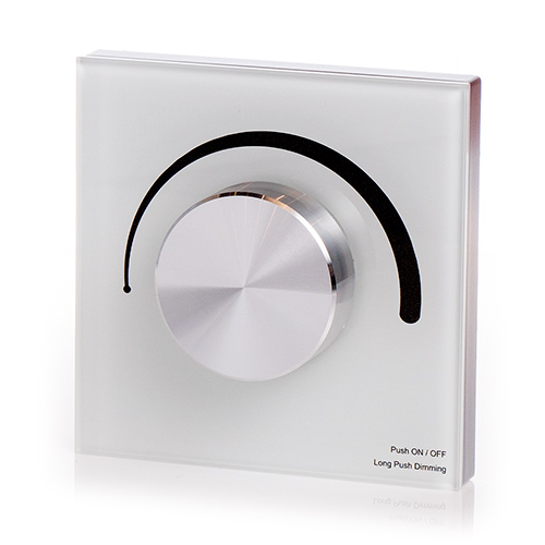 LED SD T1-KW Fali LED fényerőszabályzó, forgatógombos, fehér (22593)