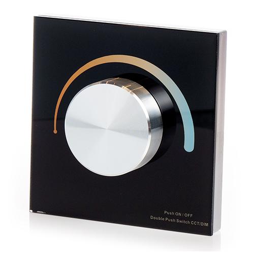 LED SD T2-KB Fali LED színhőmérséklet vezérlő, forgatógombos, fekete (22599)