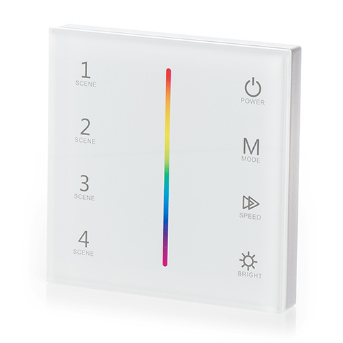 LED SD T3-1W Fali LED RGB vezérlő, érintésérzékeny, fehér (22601)