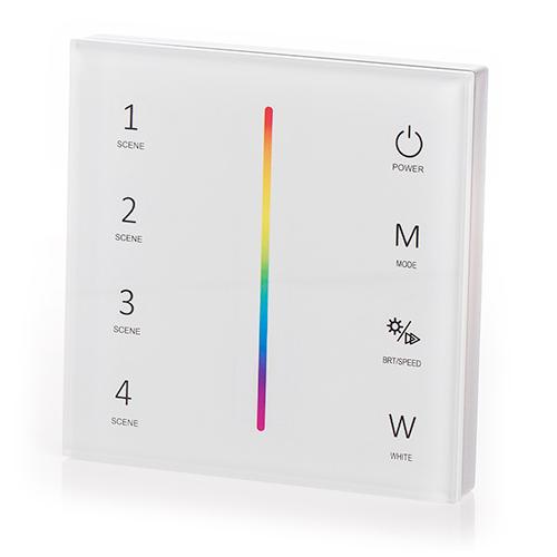 LED SD T4-1W Fali LED RGB+W vezérlő, érintésérzékeny, fehér (22605)