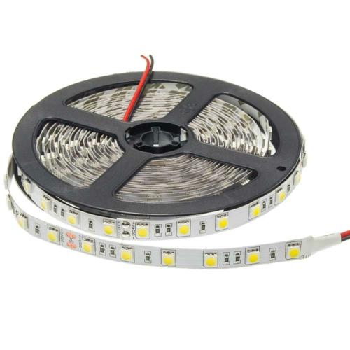 Meleg fehér SMD 5050 LED szalag - IP20, 60 LED/m, 24V (ST4852)