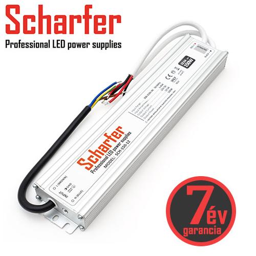 Scharfer Vízálló LED tápegység 12 Volt (150W/12.5A) IP67