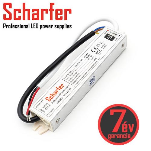 Scharfer Vízálló LED tápegység 12 Volt (20W/1.67A) IP67