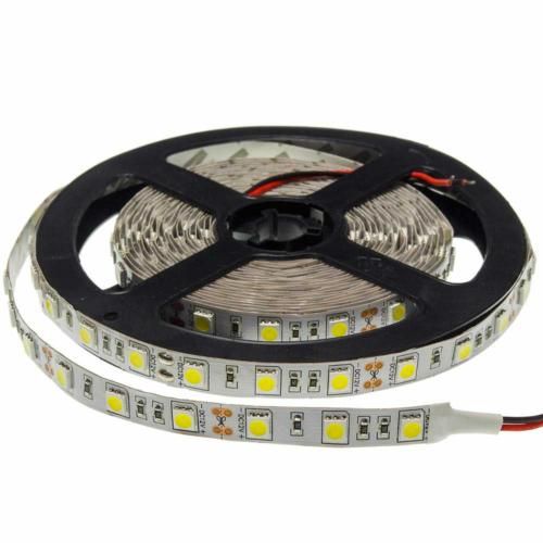 Meleg fehér SMD 5050 LED szalag - IP20, 60 LED/m, Beltéri (ST4808)