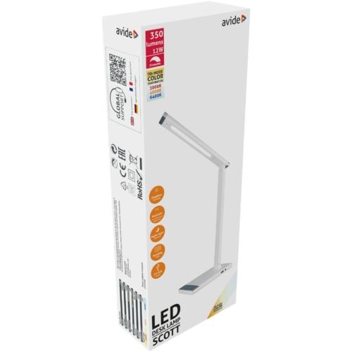 Avide LED Asztali Lámpa Scott Fehér 12W