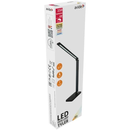 Avide LED Asztali Lámpa Tyler Fekete 6W