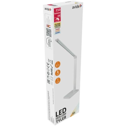 Avide LED Asztali Lámpa Tyler Fehér 6W