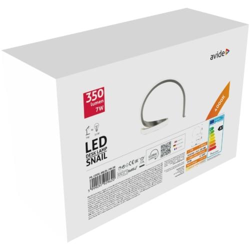 Avide LED Asztali Lámpa Snail 7W NW