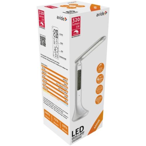 Avide LED Asztali Lámpa Naptár Fehér 5W