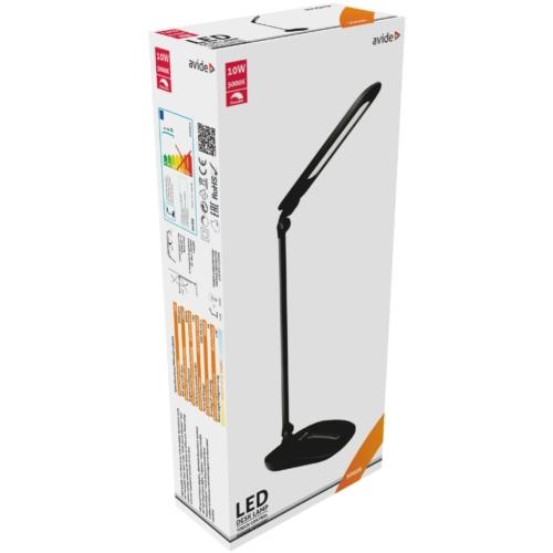 Avide LED Asztali Lámpa Érintésvezérelt Dimmer Fekete 10W