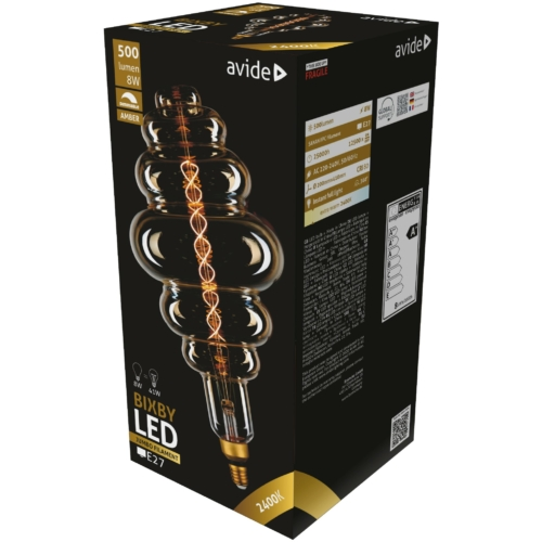 Avide LED Jumbo Filament Bixby Amber 8W E27 2400K dimmelhető