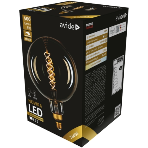Avide LED Jumbo Filament Nowra Amber 8W E27 2400K dimmelhető
