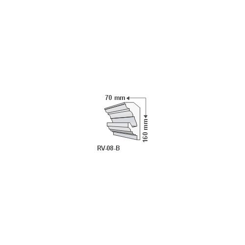 ArtLED RV-08/B Rejtett világítás díszléc - mennyezet