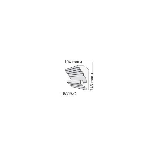 ArtLED RV-09/C Rejtett világítás díszléc - mennyezet