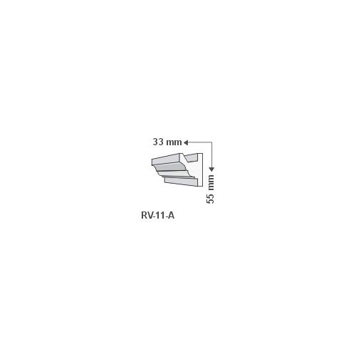 RV-11/A Rejtett világítás kiegészítő léc (1016)
