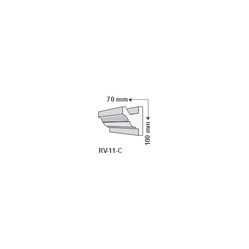 ArtLED RV-11/C Rejtett világítás LED szalag tartó díszléc