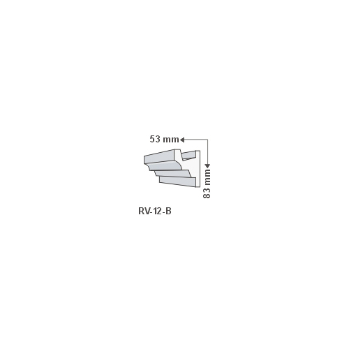 ArtLED RV-12/B Rejtett világítás LED szalag tartó díszléc