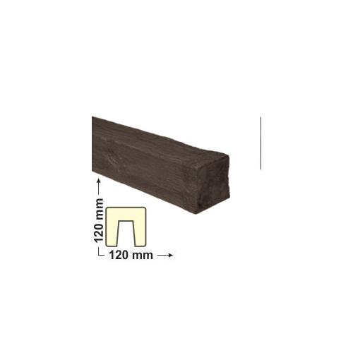 Elite Decor DecoWood Mahagóni-120 Modern poliuretán gerenda (ED106)