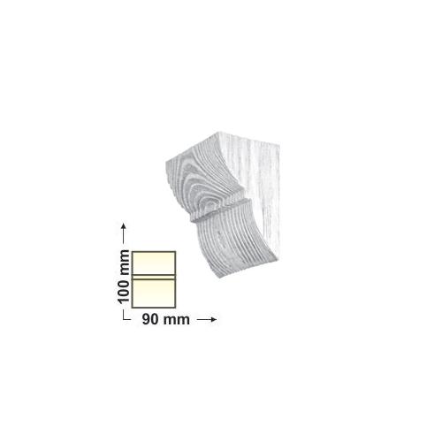 Elite Decor DecoWood Fehér-90 Univerzális poliuretán konzol-01, festhető (ED017)