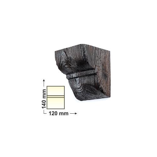 Elite Decor DecoWood Mahagóni-120 Univerzális konzol-01 (EQ016)