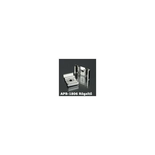LED Profiles APB-1806 Hajlítható alu U profil ezüst - rögzítő elem, fém