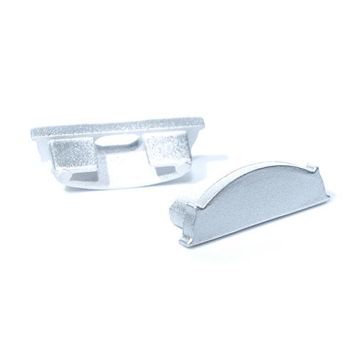LED Profiles APB-1806 Hajlítható alu U profilhoz véglezáró, szürke