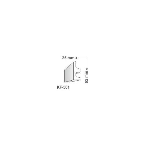 Elite Decor Poliuretán rejtett világítás díszléc (KF-501) ütésálló