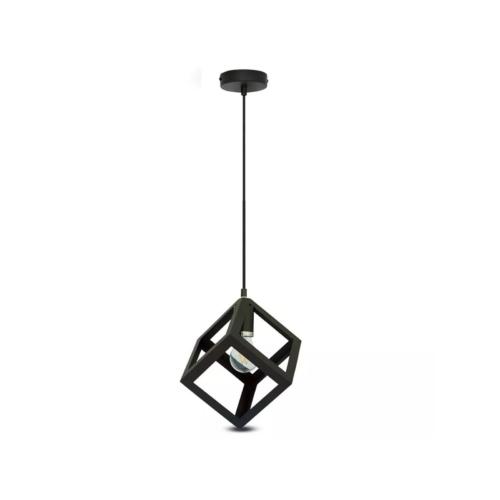 V-TAC Champion-IV geometrikus függeszték (E27) fekete kocka