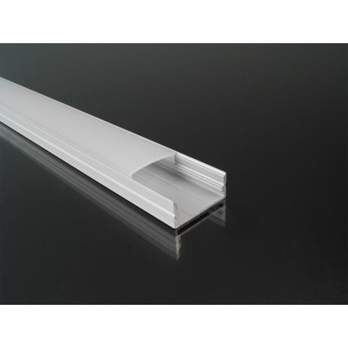 Surface-3 Alumínium U profil ezüst, LED szalaghoz, opál burával