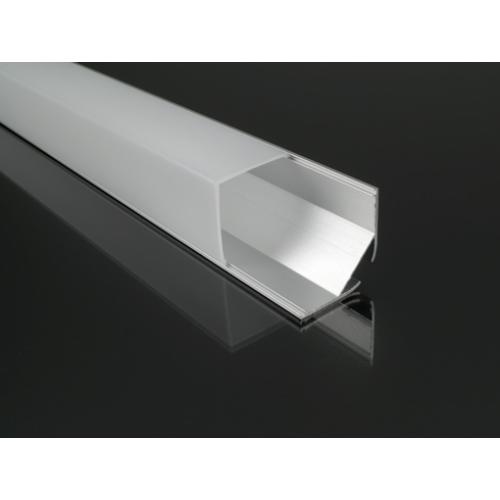 ALP-016S Aluminium sarokprofil ezüst, LED szalaghoz, opál burával