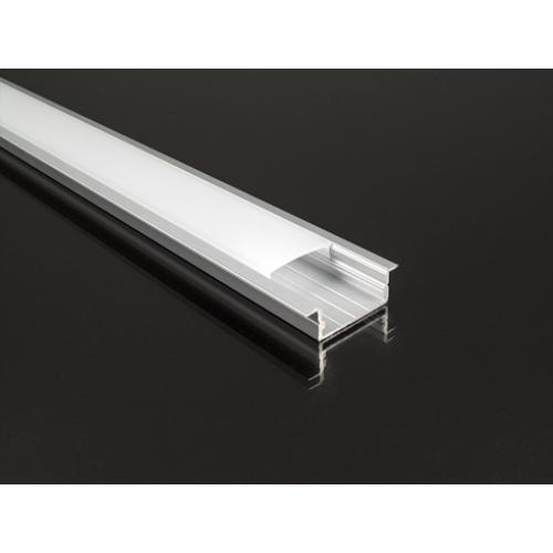 Recessed-3 süllyeszthető alu profil eloxált, LED szalaghoz, opál burával