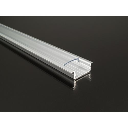 Recessed-3 profil eloxált, LED szalaghoz, átlátszó burával