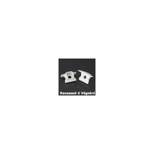 LED Profiles Recessed-2 süllyeszthető alu profil eloxált - végzáró elem, szürke