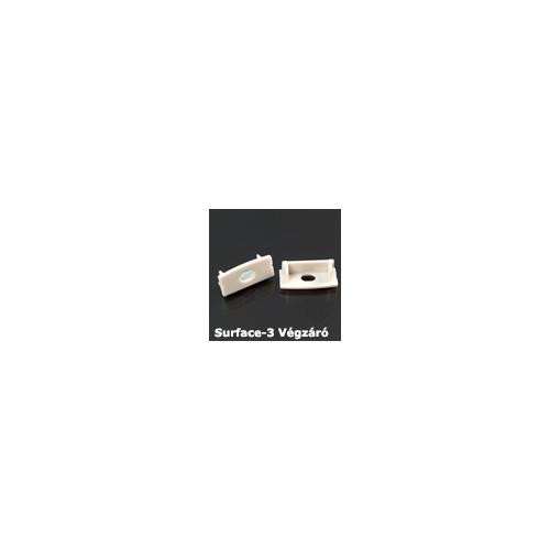LED Profiles Surface-3 Alumínium U profil végzáró elem, szürke