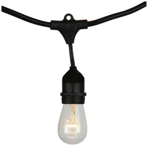 V-TAC E27 foglalatos fényfüzér, fekete, IP54, 5 méter, 10 db izzóhoz