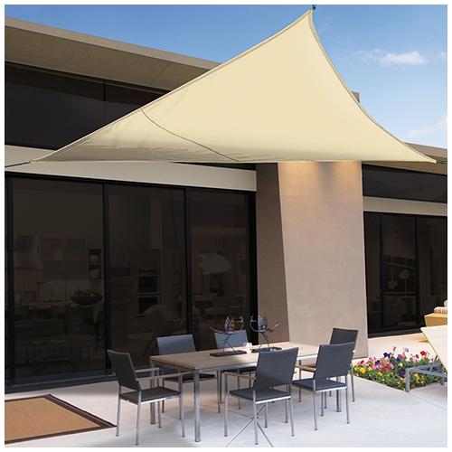 Nortene Sunnet Kit Polyester háromszög alakú napvitorla (árnyékoló) 5 x 5 x 5 m - bézs
