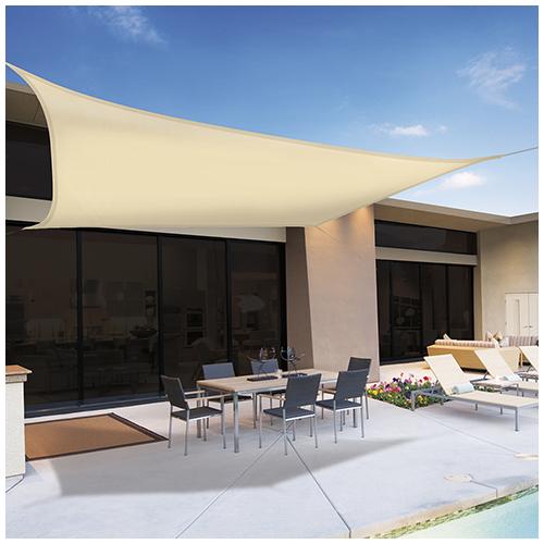 Nortene Sunnet Kit Polyester négyzet alakú napvitorla (árnyékoló) 3.6 x 3.6 m - bézs