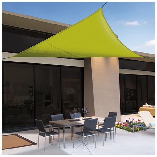 Nortene Sunnet Kit Polyester háromszög alakú napvitorla (árnyékoló) 3.6 x 3.6 x 3.6 m - zöld