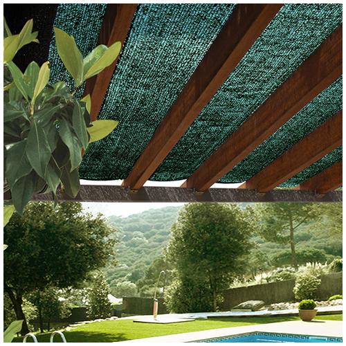 Nortene Árnyékoló háló kerítésre pergolára, 70%-os takarás SUN-NET (4x5 méter) zöld