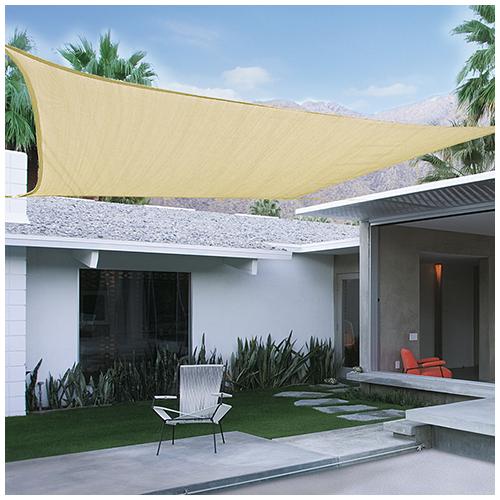Nortene Sunnet Kit négyzet alakú, szőtt napvitorla (árnyékoló) 3.6 x 3.6 m - bézs