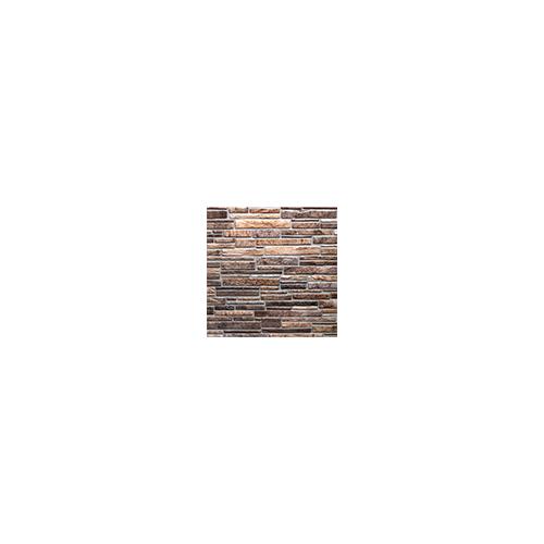 Regul PVC falpanel - Szeletelt kő - Kis barna