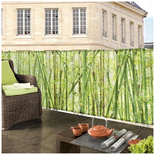 Nortene Belátásgátló fűzőlyukkal 85%, nyomtatott minta STYLIA (1x3 méter) bambusz