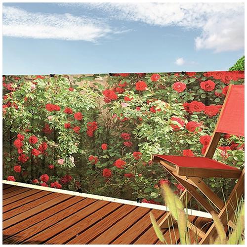 Nortene Belátásgátló fűzőlyukkal 85%, nyomtatott minta STYLIA (1x3 méter) virág