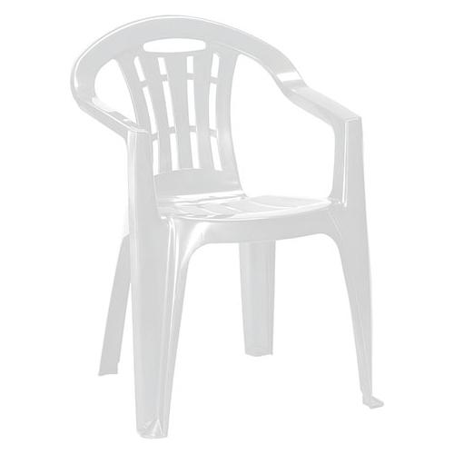 Curver Mallorca kartámaszos műanyag kerti szék - fehér