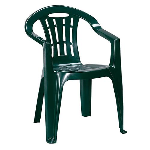 Curver Mallorca kartámaszos műanyag kerti szék - sötét zöld
